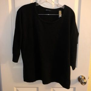 Forever 21 black scoopneck sweater size Large
